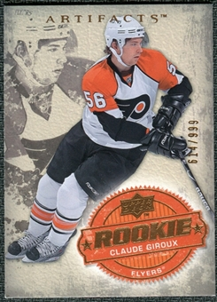 2008/09 Upper Deck Artifacts #204 Claude Giroux RC /999