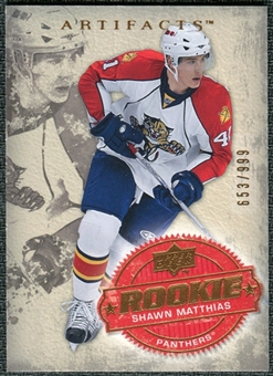 2008/09 Upper Deck Artifacts #210 Shawn Matthias RC /999