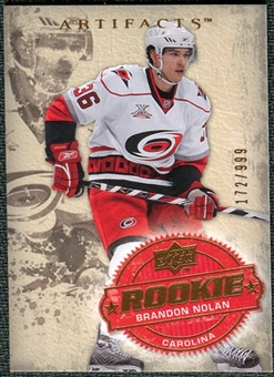 2008/09 Upper Deck Artifacts #218 Brandon Nolan RC /999