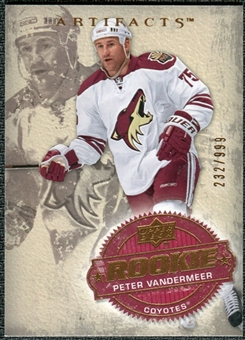 2008/09 Upper Deck Artifacts #225 Peter Vandermeer RC /999