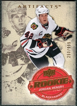 2008/09 Upper Deck Artifacts #229 Jordan Hendry RC /999