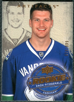 2008/09 Upper Deck Artifacts #235 Zach Fitzgerald RC /999