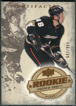 2008/09 Upper Deck Artifacts #237 Andrew Ebbett RC /999