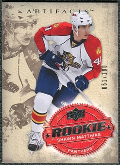 2008/09 Upper Deck Artifacts Silver #210 Shawn Matthias /100