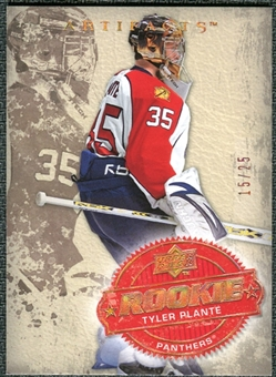 2008/09 Upper Deck Artifacts Copper Spectrum #241 Tyler Plante RC /25