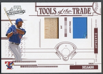 2005 Absolute Memorabilia #50 Carlos Delgado Tools of the Trade Swatch Bat Patch #043/100