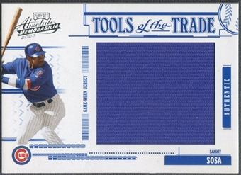 2005 Absolute Memorabilia #76 Sammy Sosa Tools of the Trade Jumbo Jersey #089/100