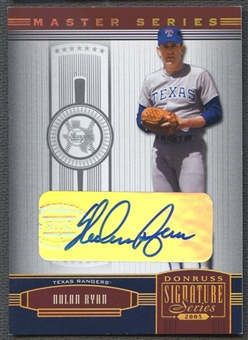 2005 Donruss Signature #144 Nolan Ryan Gold Auto #4/5
