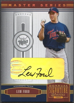 2005 Donruss Signature #66 Lew Ford Gold Auto #07/50