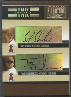 2005 Donruss Signature #2 Scott Shields Francisco Rodriguez INKcredible Combos Auto