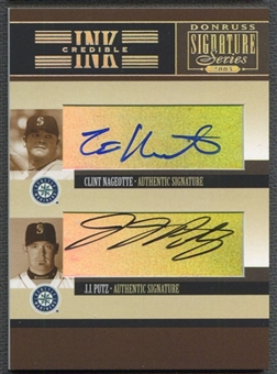 2005 Donruss Signature #34 Clint Nageotte J. J. Putz INKcredible Combos Auto