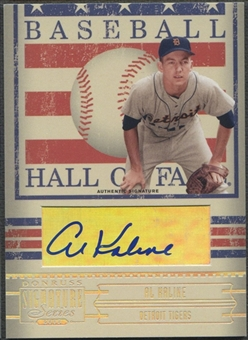 2005 Donruss Signature #1 Al Kaline Hall of Fame Auto