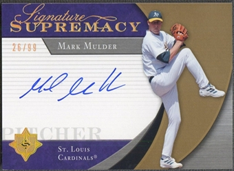 2005 Ultimate Signature #MM Mark Mulder Signature Supremacy Auto #26/99
