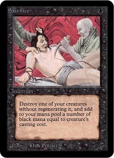 Magic the Gathering Alpha Single Sacrifice UNPLAYED (NM/MT)