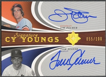 2005 Ultimate Signature #PS Jim Palmer Tom Seaver Cy Young Dual Auto #055/100