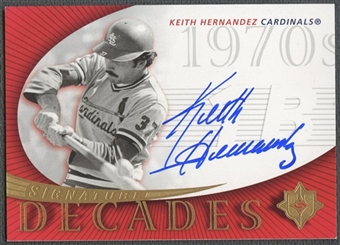 2005 Ultimate Signature #KH Keith Hernandez Decades Cards Auto