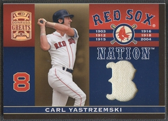 2005 Donruss Greats #5 Carl Yastrzemski Sox Nation Material Jersey