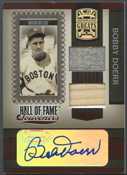2005 Donruss Greats #10 Bobby Doerr Hall of Fame Souvenirs Signature Bat Pants Auto
