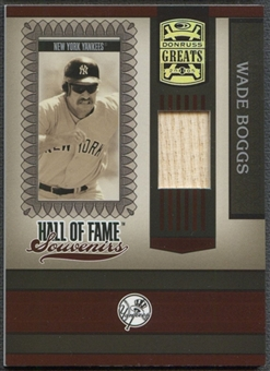 2005 Donruss Greats #28 Wade Boggs Hall of Fame Souvenirs Material Bat