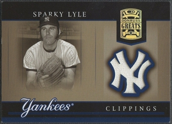 2005 Donruss Greats #26 Sparky Lyle Yankee Clippings Material Pants