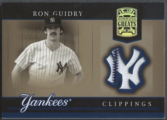 2005 Donruss Greats #25 Ron Guidry Yankee Clippings Material Pants