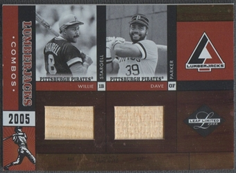 2005 Leaf Limited #48 Willie Stargell Dave Parker Lumberjacks Bat #30/50