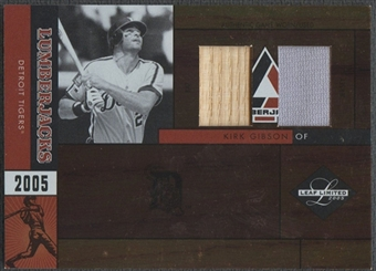 2005 Leaf Limited #21 Kirk Gibson Lumberjacks Bat Jersey #31/50