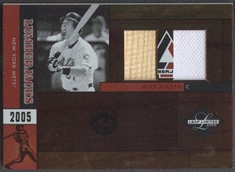 2005 Leaf Limited #24 Mike Piazza Lumberjacks Bat Jersey #24/50