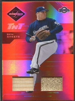 2005 Leaf Limited #25 Ben Sheets TNT Bat Patch #11/60