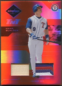 2005 Leaf Limited #53 Hank Blalock TNT Bat Patch #002/100