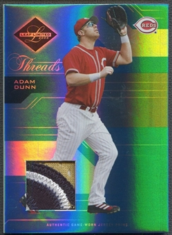 2005 Leaf Limited #42 Adam Dunn Threads Patch #006/100