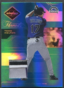 2005 Leaf Limited #6 Todd Helton Threads Patch #051/100