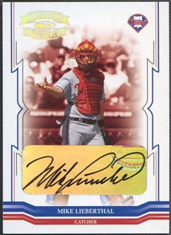 2005 Throwback Threads #207 Mike Lieberthal Signature Marks Auto #02/25