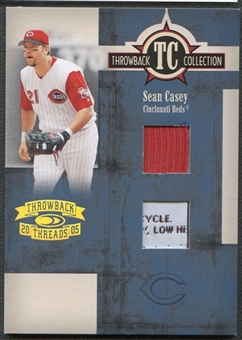 2005 Throwback Threads #66 Sean Casey Throwback Collection Material Patch #07/25