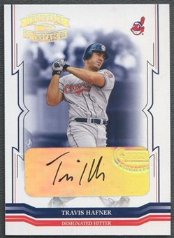 2005 Throwback Threads #184 Travis Hafner Signature Marks Auto #29/50