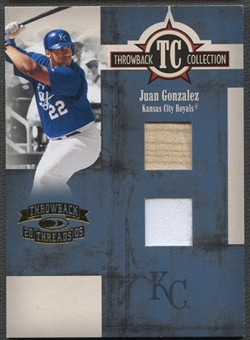 2005 Throwback Threads #22 Juan Gonzalez Throwback Collection Material Bat Jersey #051/100