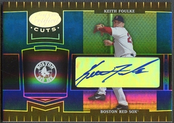 2004 Leaf Certified Cuts #33 Keith Foulke Marble Signature Blue Auto #08/75