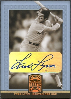 2005 Donruss Greats #27 Fred Lynn Signature Gold HoloFoil Auto