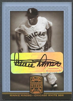 2005 Donruss Greats #60 Minnie Minoso Signature Gold HoloFoil Auto