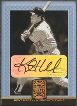 2005 Donruss Greats #49 Kent Hrbek Signature Gold HoloFoil Auto