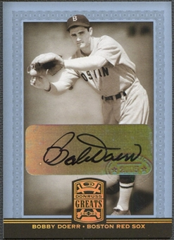2005 Donruss Greats #9 Bobby Doerr Signature Gold HoloFoil Auto