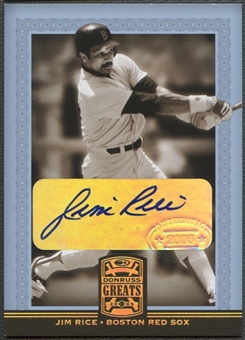 2005 Donruss Greats #40 Jim Rice Signature Gold HoloFoil Auto