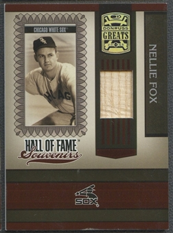 2005 Donruss Greats #7 Nellie Fox Hall of Fame Souvenirs Material Bat