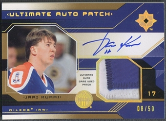 2004/05 Ultimate Collection #UPAJK Jari Kurri Patch Auto #08/50