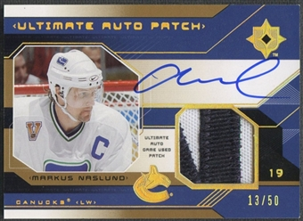 2004/05 Ultimate Collection #UPAMN Markus Naslund Patch Auto #13/50