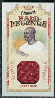 2009/10 Upper Deck Champ's Hall of Legends Memorabilia #HLJR Jerry Rice
