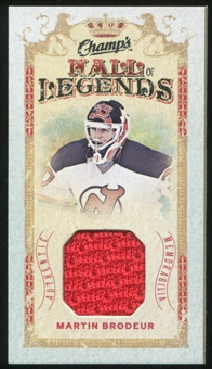 2009/10 Upper Deck Champ's Hall of Legends Memorabilia #HLMB Martin Brodeur