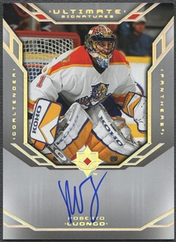 2004/05 Ultimate Collection #USRL Roberto Luongo Signatures Auto SP