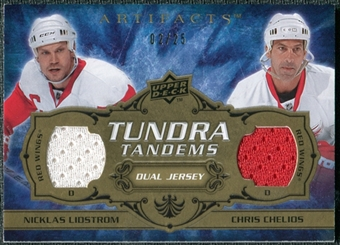 2008/09 Upper Deck Artifacts Tundra Tandems Gold #TTCL Chris Chelios Nicklas Lidstrom /25