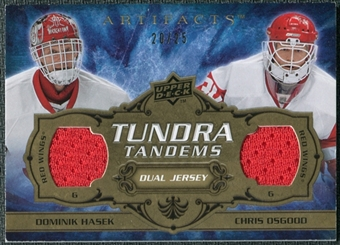 2008/09 Upper Deck Artifacts Tundra Tandems Gold #TTHO Dominik Hasek Chris Osgood /25